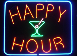 Happy hour neon sign 3458